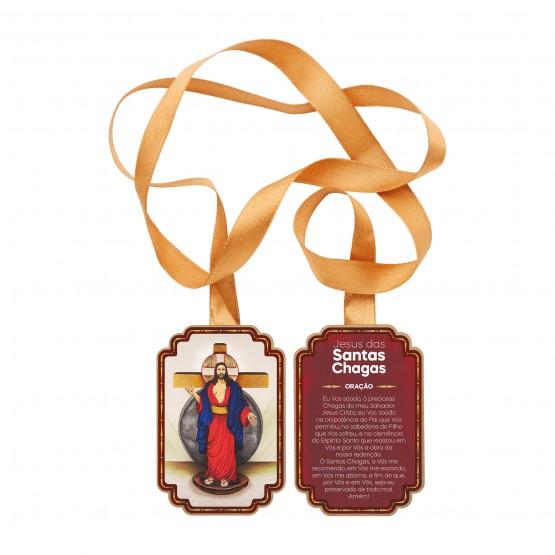 ESCAPULÁRIO DE PORTA JESUS DAS SANTAS CHAGAS