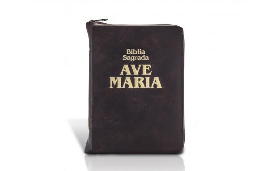 BÍBLIA LETRA MAIOR ZÍPER- MARROM