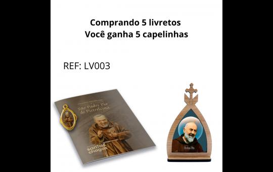 LIVRETO + CAPELA PADRE PIO