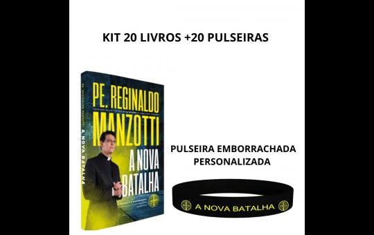 KIT A NOVA BATALHA - 20 LIVROS + 20 PULSEIRAS